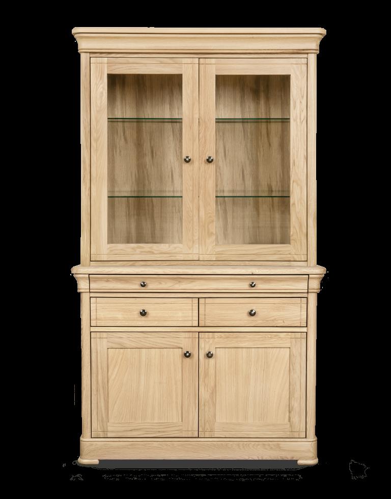 Top with Glass Door H 1040 x W 1100 x D 420 Two Door Sideboard H 860 x W 1100 x D 460