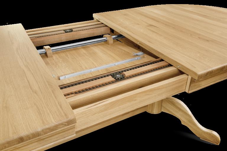 Double Pedestal Table H 760 x W 2000 x D 1000 (+500 leaf)