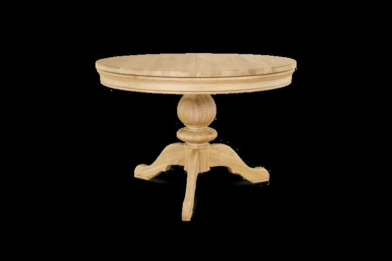 Single Pedestal Table H 760 x R 1100 (+390 leaf)