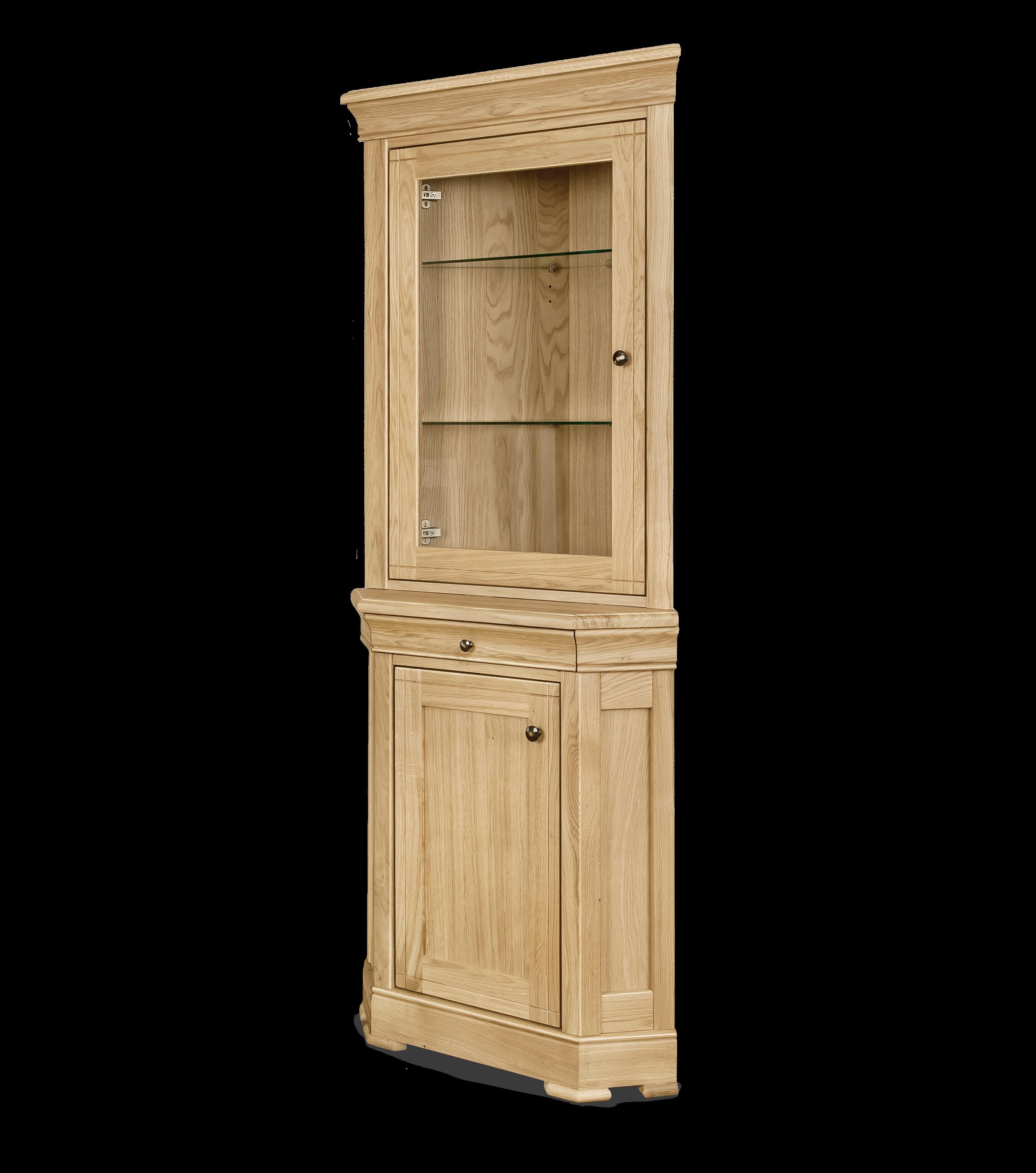 Corner  Display Cabinet H 1900 x W 790 x D 460  Sideboard H 870 x W 770 x D 500